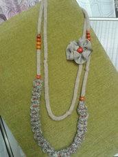 collana  lana  ad uncinetto