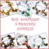 """Box di Natale!  """"5 Bracciali  di Natale a sorpresa """" Bijoux natalizi Idea regalo economica donna bambina fimo cernit"""