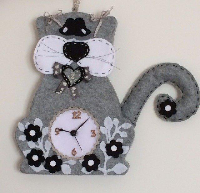Orologio gatto da parete