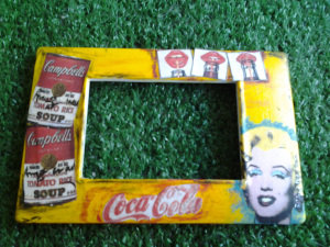 Pop Art. Placca luce personalizzata a tema pop art