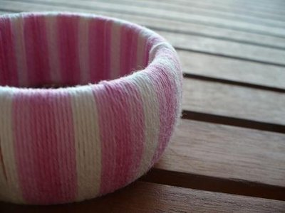 Braccialetto rigido in cotone perfetto per l' ESTATE!fatto a mano
