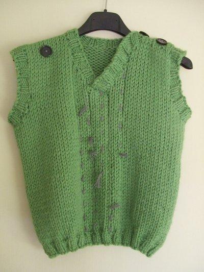 maglione gilè lana maglia bimbo