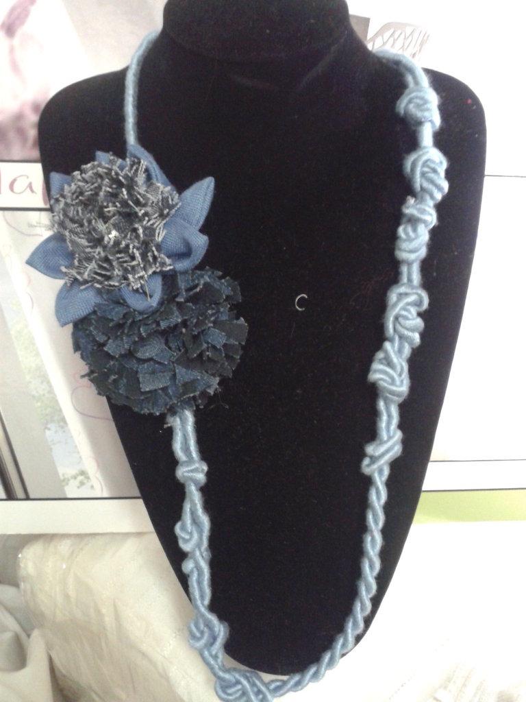 Molto collana blu jeans e cordone - Gioielli - Collane - di Milly  LE17