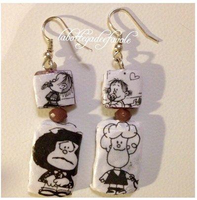 Orecchini pendenti Mafalda