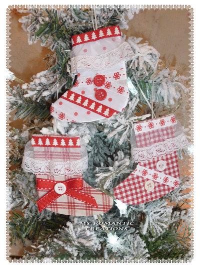 Scarponcini di Natale country chic.