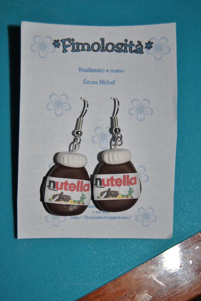 Orecchini alla Nutella