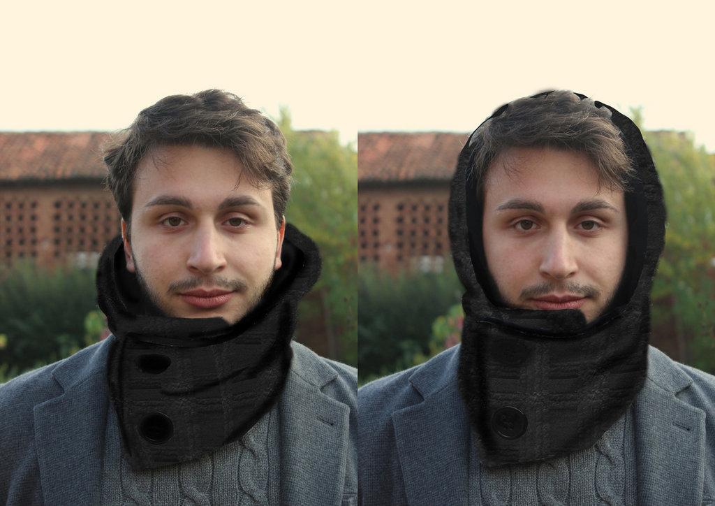 Scairpuccio sciarpa più cappuccio mod. Minimal