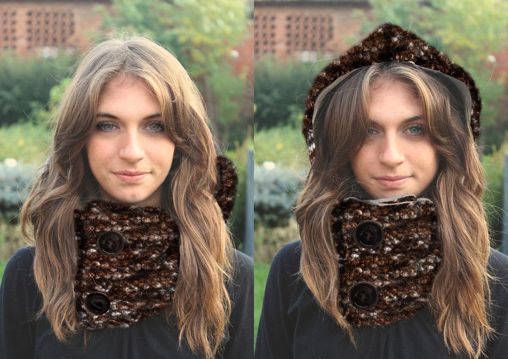 Scairpuccio sciarpa più cappuccio mod. Autumn