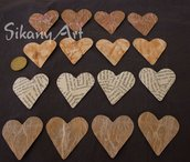 Set 16 sagome cuore in cartoncino per scrapbooking
