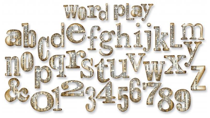 Lettere Fustellate in Cartoncino Colorato