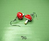Orecchini in Fimo Funghi funghetti