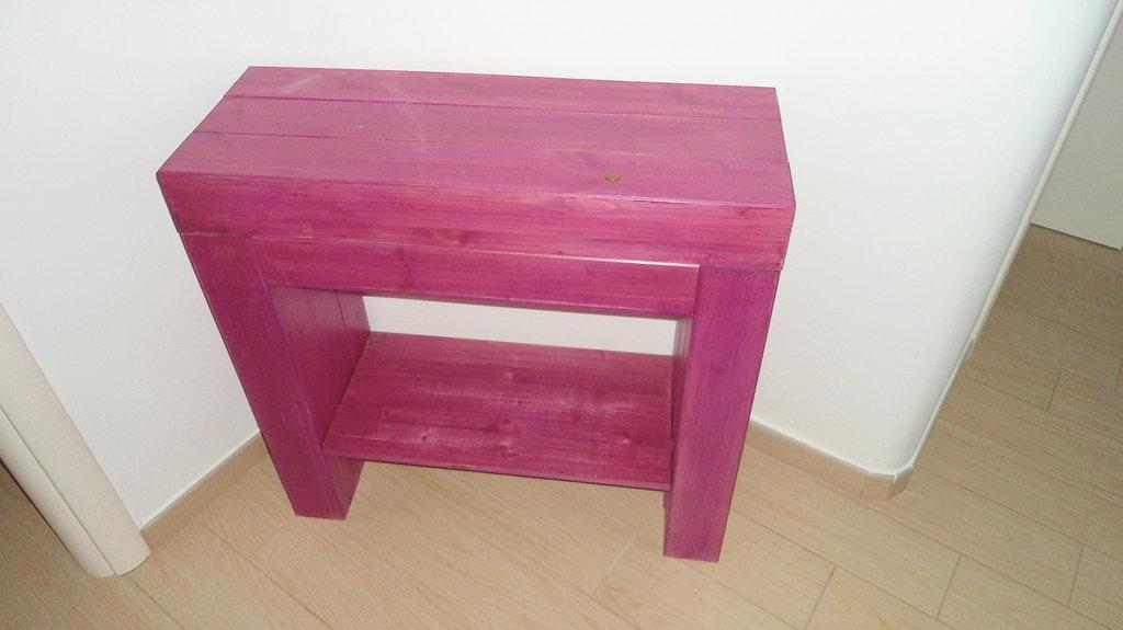 Mobile consolle in vero legno di abete