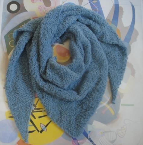 Sciarpa strangolino in lana bouclèe