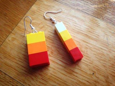 orecchini lego multicolor