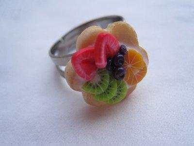 anello FRUTTA & colore IN FIMO