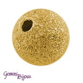 Lotto 10 perle stardust 6mm gold