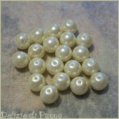 Perle bianco avorio per creazioni
