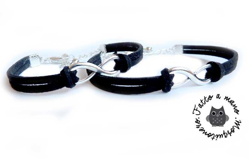 Bracciale coppia Infinito Infinity Easy color silver braccialetto
