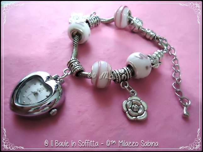 Orologio/Bracciale con perle Trollbeads
