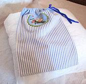 sacchetto porta-scarpe in stoffa