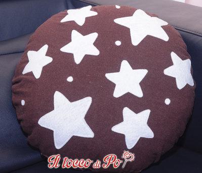 Cuscino cibo Pan di stelle feltro e pile lavabile indeformabile