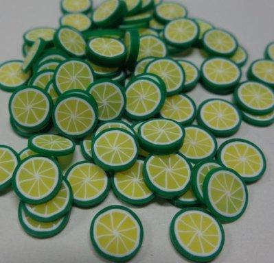 115 Fettine Lime Esotico da Polymer Clay Canes