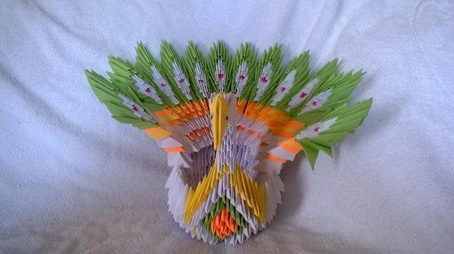 origami  pavone.