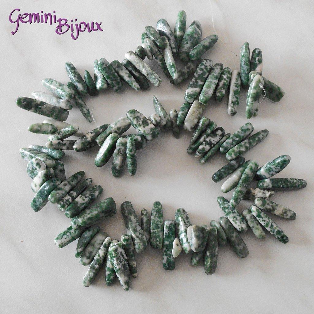 Fila da 40 cm. chips grandi green spot stone