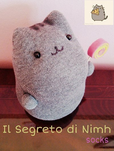 Pusheen con Lollipop Kawaii Peluche interamente fatto a mano