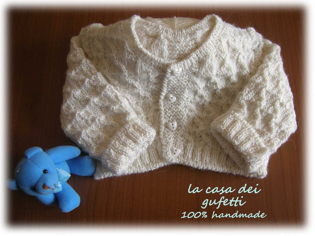 Coprifasce in pura lana vergine colore panna