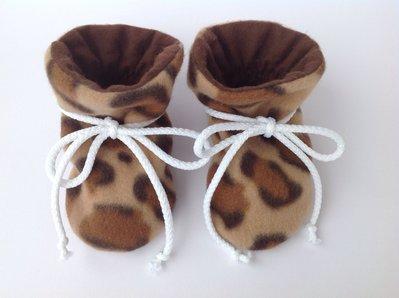 """Babbucce scarpine pile """"leopardo"""" - bambina 0-6 mesi"""