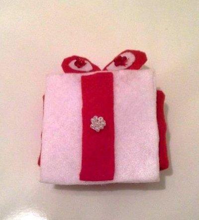 Porta tovaglioli pacchetto regalo