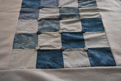 copertina patchwork azzurra