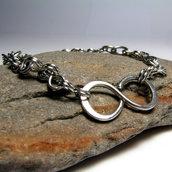 Bracciale in acciaio inossidabile,bracciale unisex - INFINITY - cod.0317