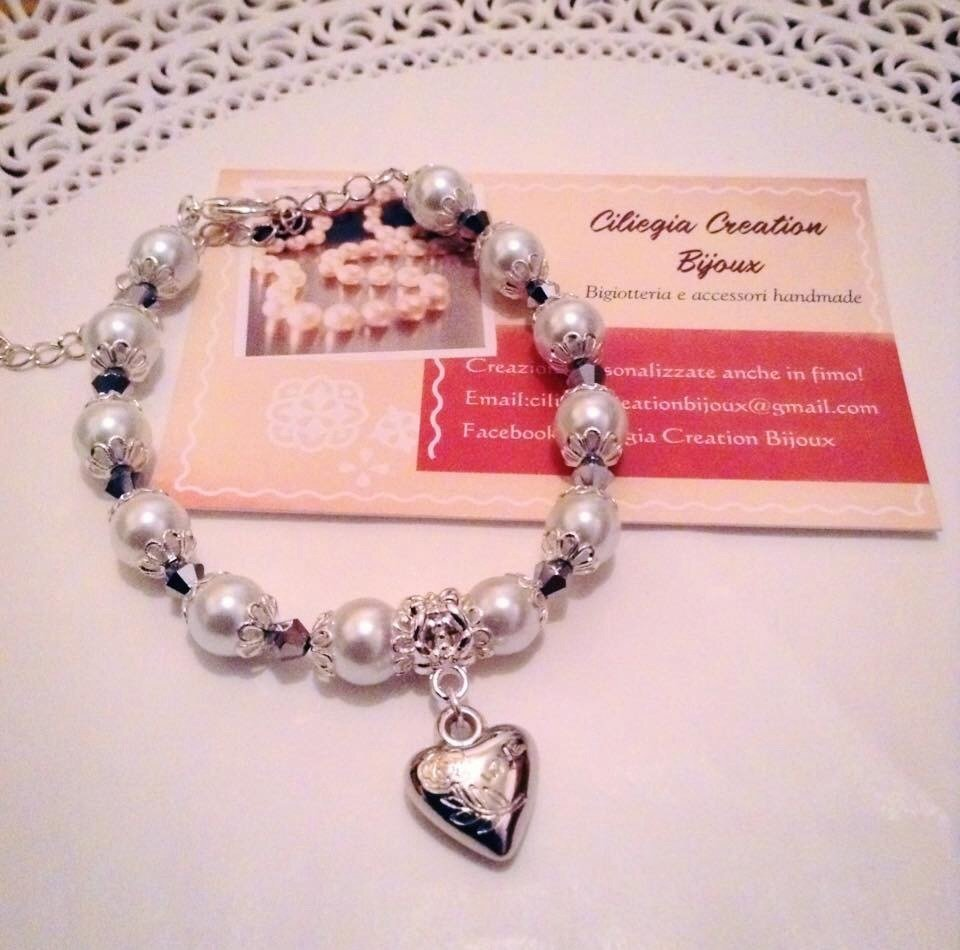 Bracciale perle e swarosky
