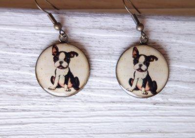 Orecchini in resina Happiness is.. a dog! fatti a mano - un aiuto agli animali abbandonati, negozio solidale pro cani e gatti