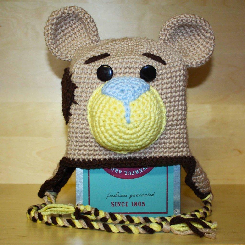 Cappellino in lana uncinetto amigurumi orsacchiotto