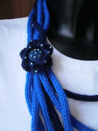 intreccio in blu con rose