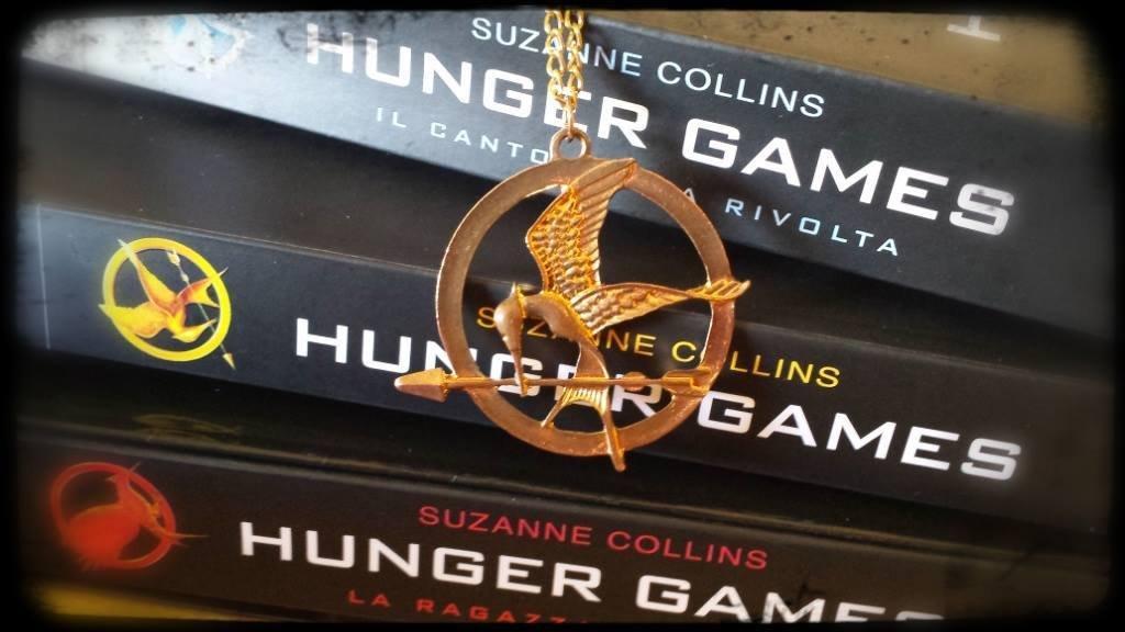Collana Ghiandaia Imitatrice Hunger games dorata/bronzo Katniss_Uomo Donna_idea regalo Natale