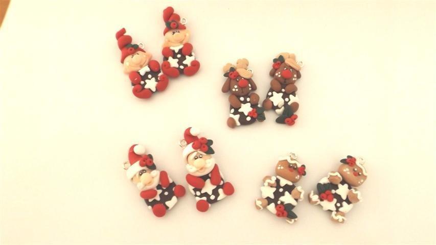 """JUST XMAS - FIMO - dalla serie """" PASSA IL NATALE CON I PAN DI STELLE -  SEGNAPOSTO biscotto con decori natalizi UNO A SCELTA """""""