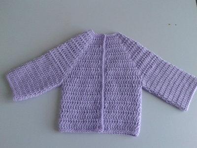 Giacchina di lana lilla da bimba