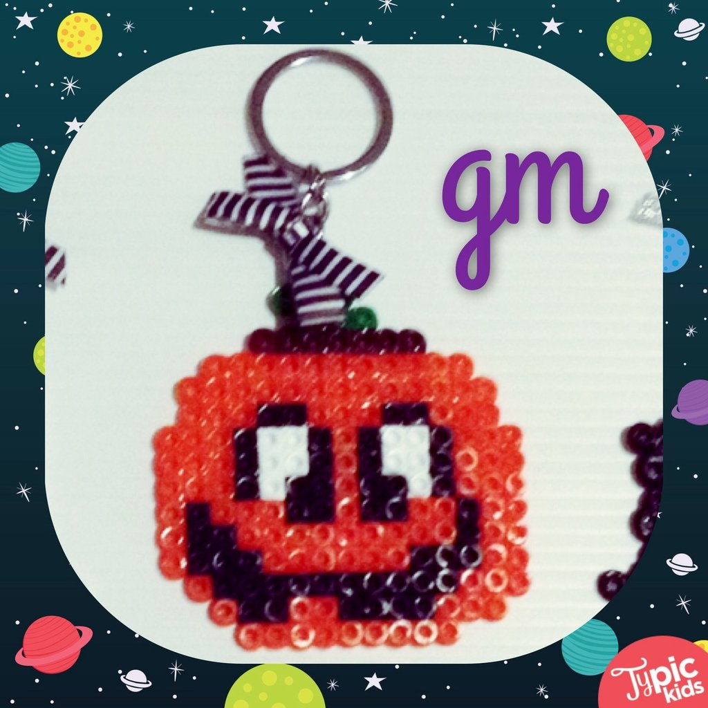 Portachiavi con Zucca _ Perline Pyssla _ Speciale Halloween