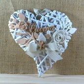 cuore in vimini con scritta cucina