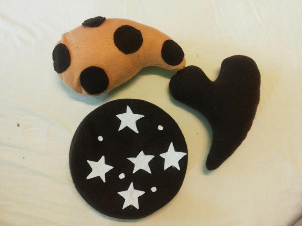 3 cuscini biscotto baby Pan di stelle, Batticuore, Gocciole
