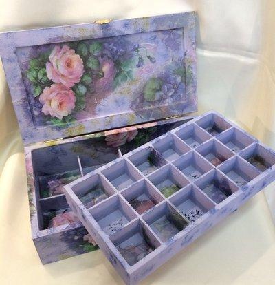 Cofanetto portagioie decoupage porta gioielli per la - Porta gioielli fatti in casa ...