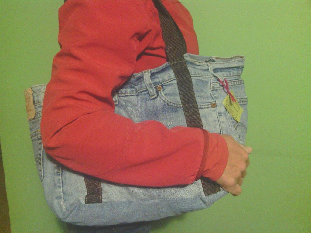 borsa in jeans fatta a mano B005
