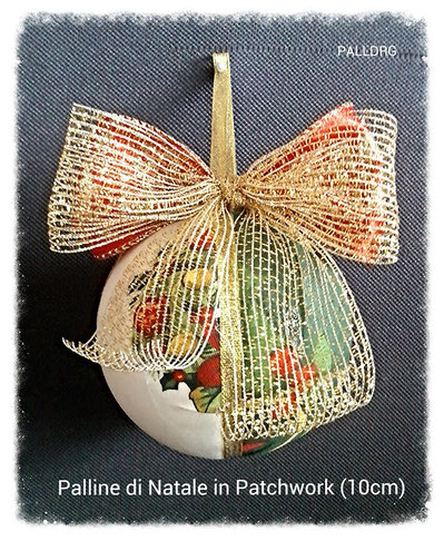 Palline di Natale in Patchwork (KIT CON 6)