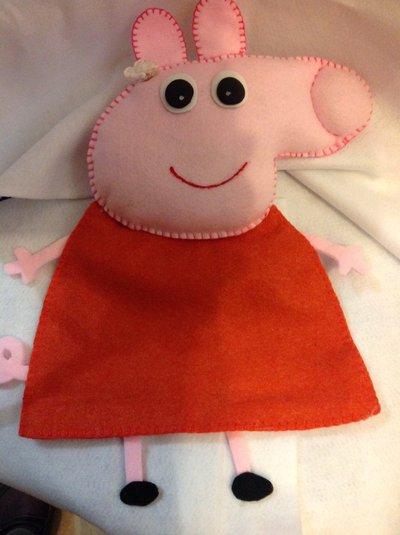 Porta pigiama peppa pig in feltro