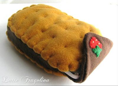 Custodia per cellulare smartphone - biscotto gelato, cioccolato
