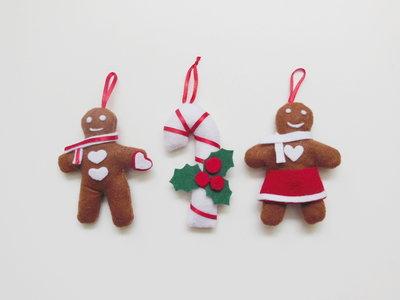 Set 3 decorazioni per l'albero di Natale: gli addobbi in feltro per un dolce Natale!